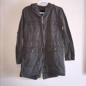 Army green cargo coat